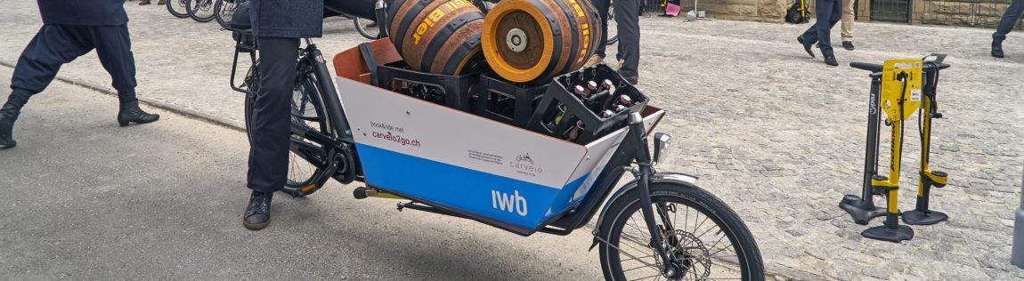 Basel, 21. März 2016: Ab heute können Cargo-Bikes über carvelo2go.ch gebucht und an verschiedenen Standorten in der Stadt Basel abgeholt werden.